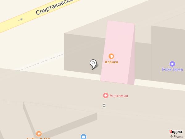 Алёнка на карте Москвы
