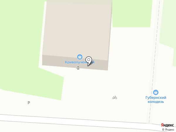 Криволученский на карте Тулы