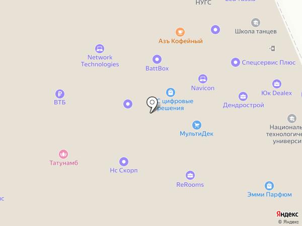 Московская торгово-промышленная палата на карте Москвы