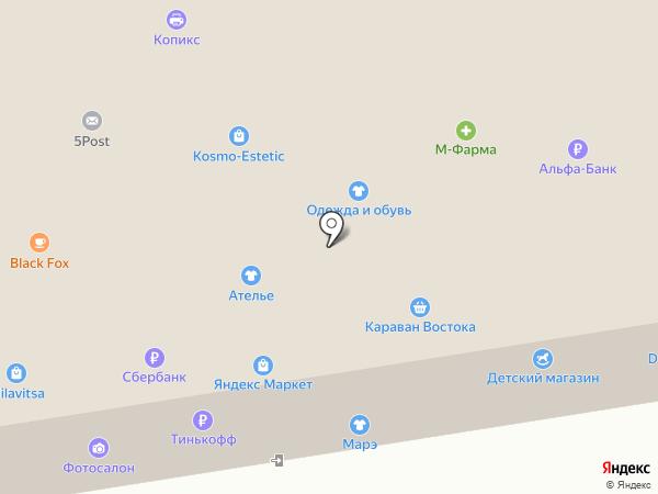 Минипорт на карте Москвы