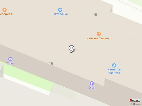 Каменная палитра на карте Москвы