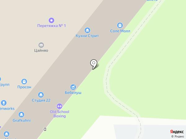 Ивна на карте Москвы