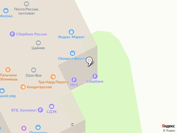 Продовольственный магазин на карте Москвы