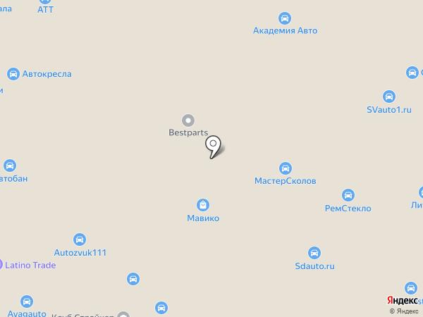 Мастершин на карте Москвы