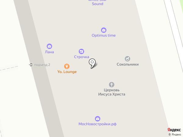 Let`s dance на карте Москвы