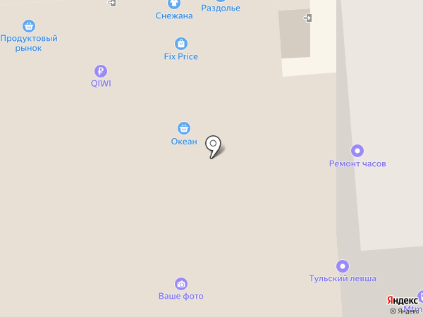 Магазин профессиональной косметики на карте Тулы