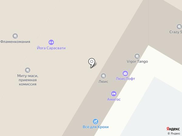 Мамантёна на карте Москвы
