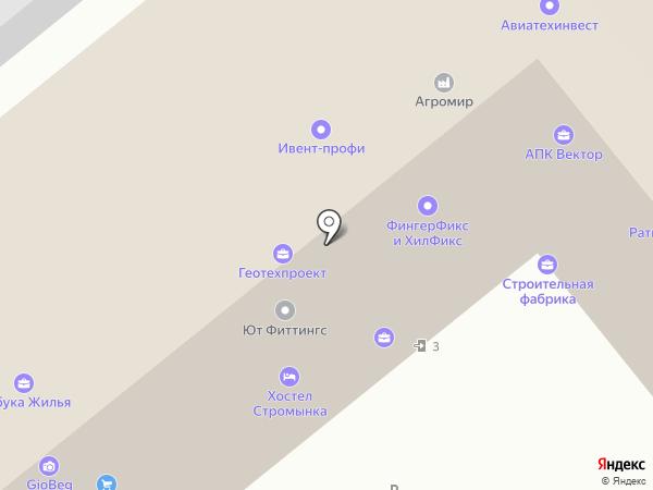 Геогран на карте Москвы