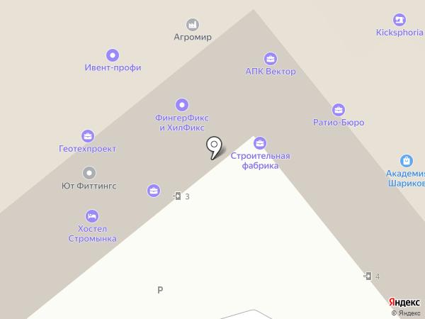 На Стромынке на карте Москвы