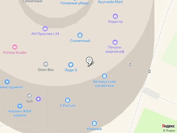 Солнечный на карте Видного