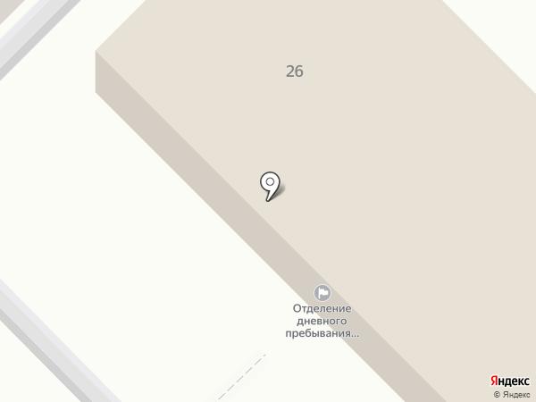 Отделение дневного пребывания на карте Тулы