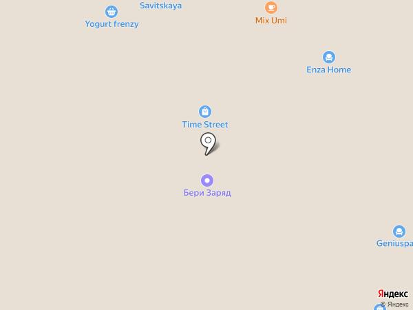 Паровозик на карте Москвы