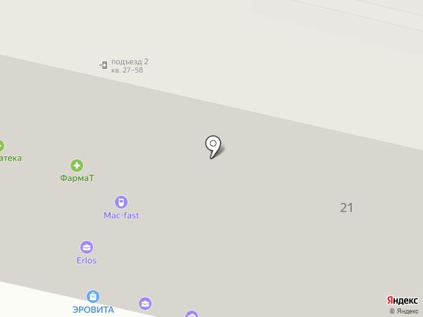 Ибис на карте Москвы
