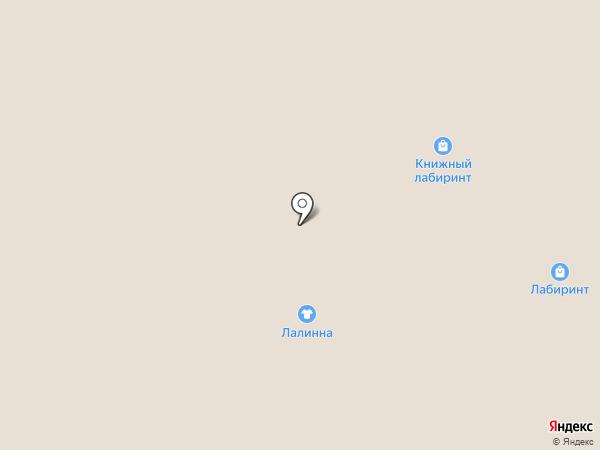Книжный Лабиринт на карте Мытищ