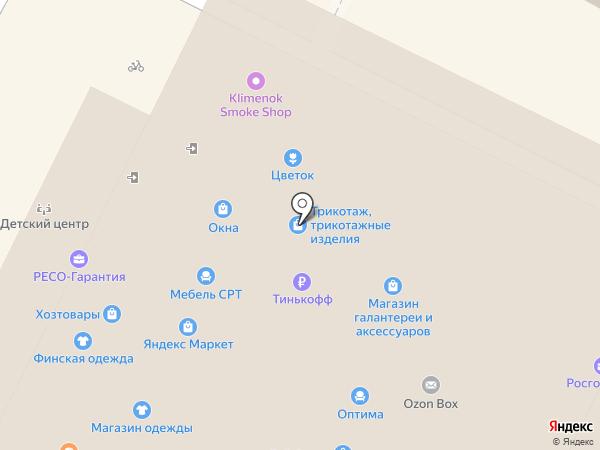 Оконный Континент на карте Видного
