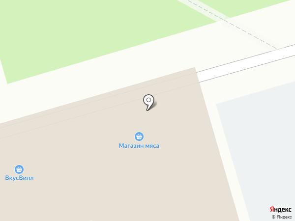 Магазин мясной продукции на карте Москвы