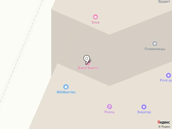 Линия на карте Мытищ