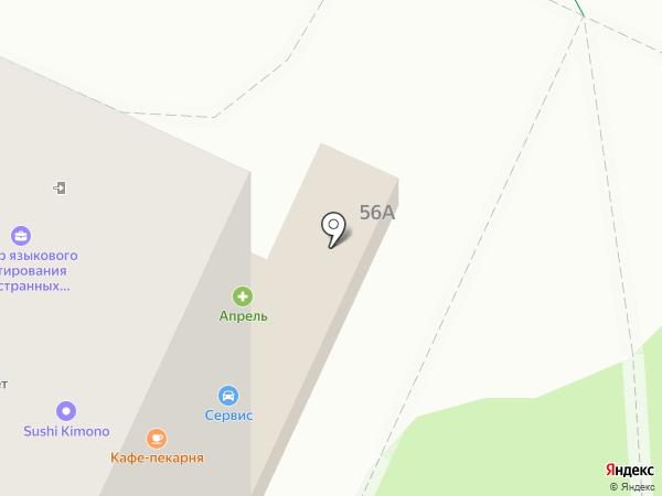Мал на карте Видного