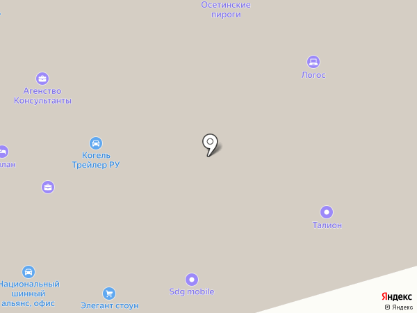 Онести на карте Москвы