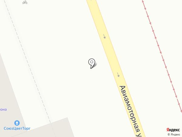 Киоск фастфудной продукции на карте Москвы