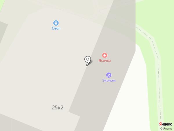 Эконом-парикмахерская на карте Мытищ