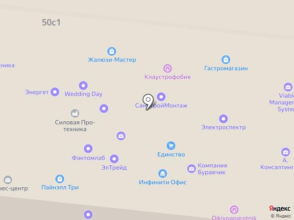 Авиамоторная 50 на карте Москвы