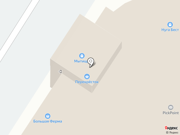 Магазин спортивных принадлежностей на карте Мытищ
