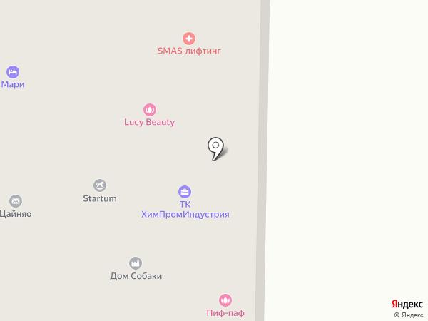 Триэль на карте Видного