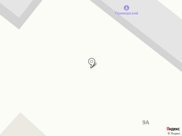 Приморский на карте Новороссийска