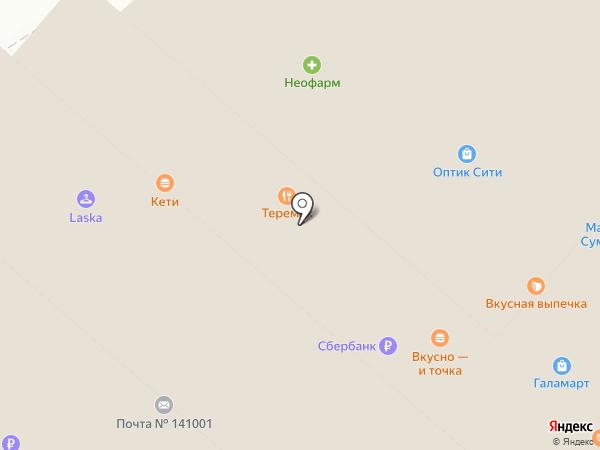 Теремок на карте Мытищ