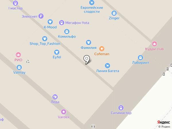 Сеть студий маникюра Лены Лениной на карте Мытищ