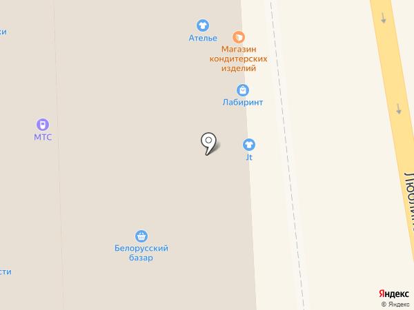 Магазин головных и шейных уборов на карте Москвы