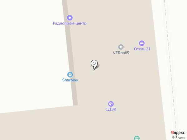 Контакт-М на карте Москвы