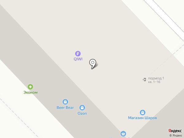 Подушка Маме на карте Мытищ