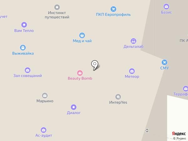 Восхождение на карте Москвы