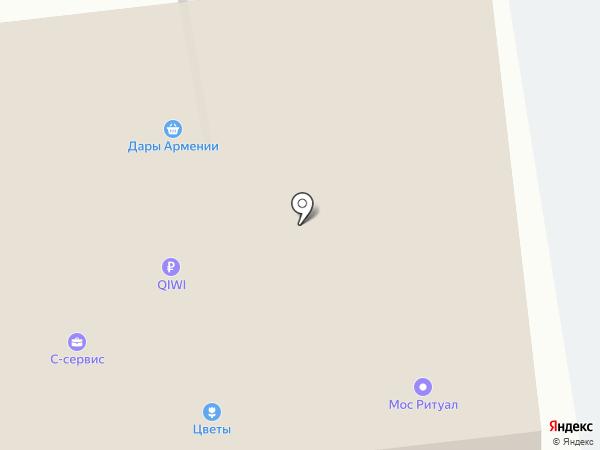Цветочный магазин на карте Москвы