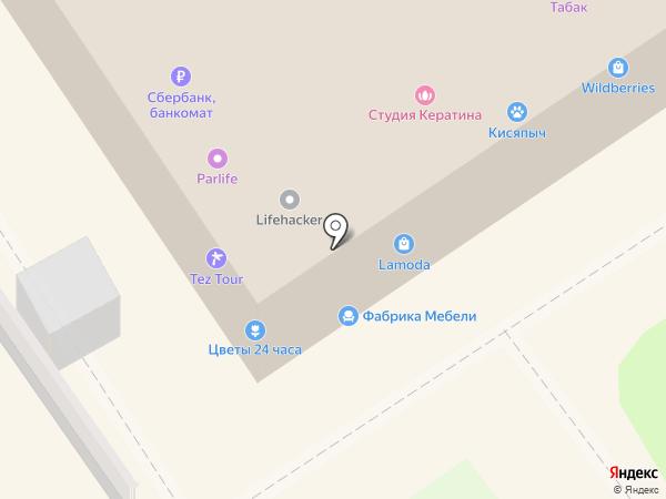 Магазин товаров для шитья на ул. Перерва на карте Москвы