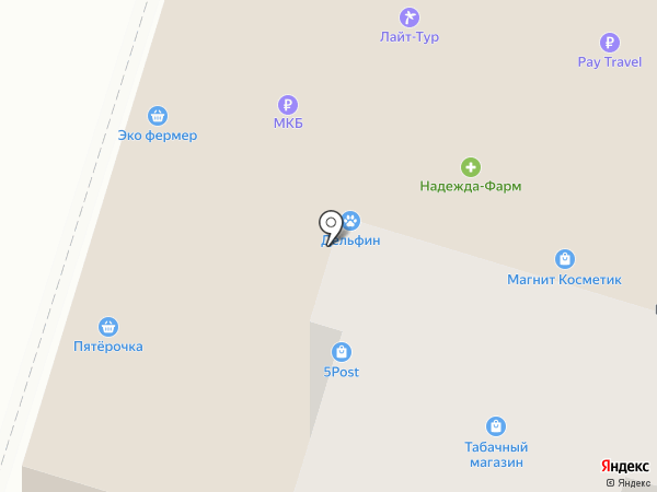 Лайт-Тур на карте Домодедово