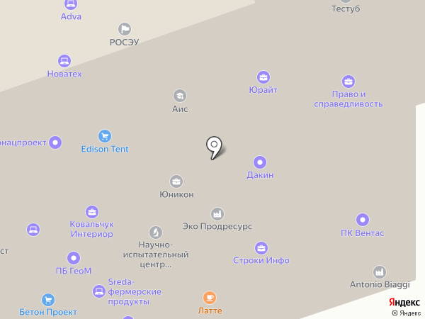 Unetica Media на карте Москвы
