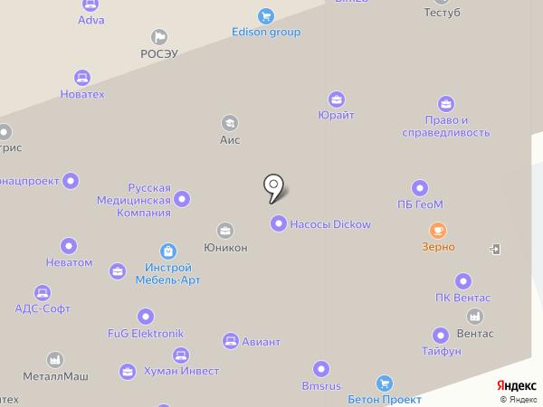 Белледжес на карте Москвы