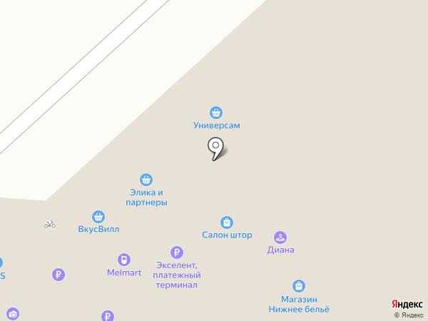 Магазин домашней одежды на карте Москвы
