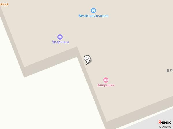 Апаринки-сити на карте Апаринок