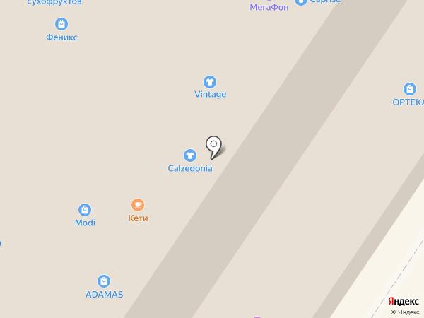 Серебряная орхидея на карте Мытищ