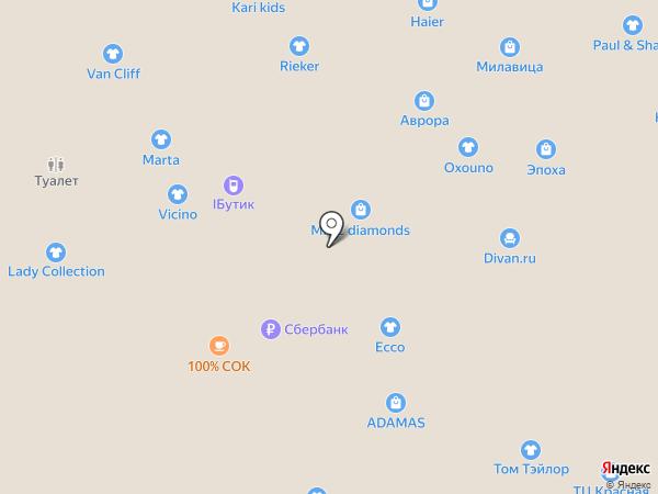 Swatch на карте Новороссийска