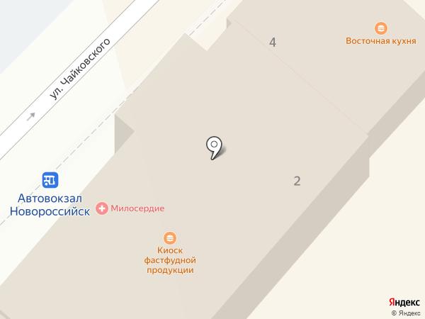 Нева-охрана на карте Новороссийска