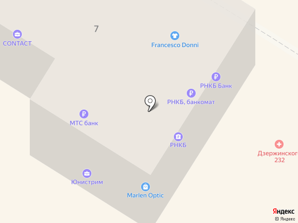 Крайинвестбанк, ПАО на карте Новороссийска
