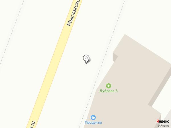 Дубрава на карте Новороссийска