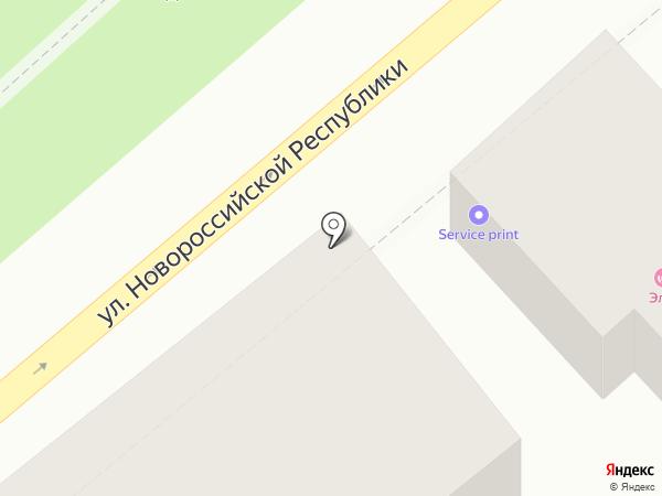 Олимпия Строй на карте Новороссийска