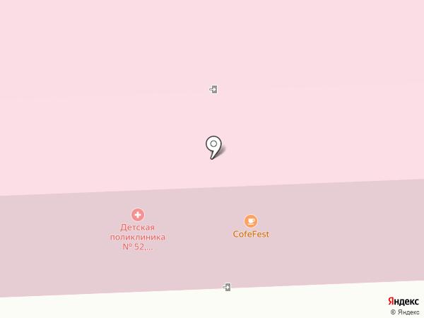 Детская городская поликлиника №52 на карте Москвы