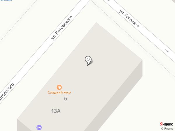Кредо на карте Новороссийска